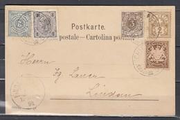N°63 Sur Lettre De Schiffspost Naar Lindau Met Oosterijkse Zegels + Duitse Zegels - 1882-1906 Armoiries, Helvetia Debout & UPU