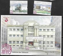 MACAO, 2019, MNH, COURT BUILDINGS,2v+ S/SHEET - Architecture