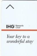 USA Hotel Keycard - IHG Rewards Club Your Key To A Wonderful Stay, Used - Cartas De Hotels