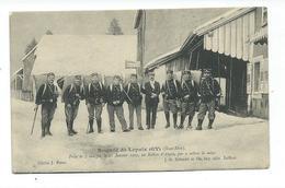 CPA LEPUIX-GY - PRISE DE 7 CHARGES LE 21 JANVIER 1905 AU BALLON D'ALSACE PAR 2 METRES DE NEIGE - DOUANIERS - Sonstige Gemeinden