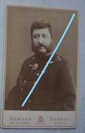 Photo ABL CDV Gd Format Officier Armée Belge Photographe Armand DANDOY Namur Baudrier Médaille Armée Belge Leger - Oud (voor 1900)