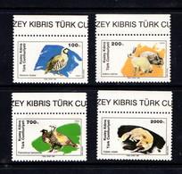 CYPRUS  TURKEY  1989    Wildlife    Set  Of  4    MNH - Unused Stamps