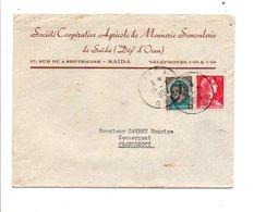 ALGERIE AFFRANCHISSEMENT COMPOSE SUR LETTRE DE SAÏDA 1957 - Covers & Documents