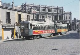 Nº 117 POSTAL DE TRANVIA DE BARCELONA 984 Y REMOLQUE 989 EN PLA DE PALAU (TREN-TRAIN-ZUG) AMICS DEL FERROCARRIL - Tranvía
