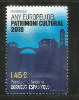 Année Européenne Du Patrimoine Culturelle (Église Romane). Un Timbre Oblitéré 1 ère Qualité. (2018) - French Andorra