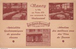 """Nancy , La Ville Aux Portes D'Or Vous Recommande Le Restaurant """" Au Capucin Gourmand """" - Nancy"""