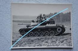 Photo ABL MEDIUM TANK PATTON M47 Armée Belge Militaria Militaria Tank Char - Krieg, Militär