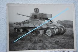 Photo ABL MEDIUM TANK SHERMAN M4 Armée Belge Militaria Militaria Tank Char - Oorlog, Militair