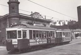 Nº 4134 POSTAL DE TRANVIA DE BARCELONA COCHE 537 EN PASSEIG NACIONAL (TREN-TRAIN-ZUG) AMICS DEL FERROCARRIL - Tranvía