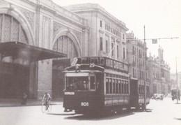 Nº 4159 POSTAL DE TRANVIA DE BARCELONA COCHE 808 EN AVDA MARQUES DE L'ARGENTERA (TREN-TRAIN-ZUG) AMICS DEL FERROCARRIL - Tranvía