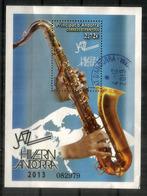Jazz D'hiver ! Célebrations Du Jazz L'Hiver En Andorre. Bloc-feuillet Oblitéré., 1 ère Qualité, Haute Faciale - Andorre Français