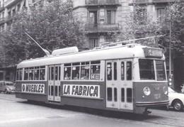 Nº 5 POSTAL DE TRANVIA DE BARCELONA SERIE 1251-1299 (TREN-TRAIN-ZUG) AMICS DEL FERROCARRIL - Tranvía