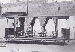 Nº 32 POSTAL DE TRANVIA DE BARCELONA REMOLQUE JARDINERA (TREN-TRAIN-ZUG) AMICS DEL FERROCARRIL - Tram