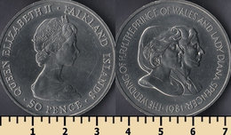 Falkland Islands 50 Pence 1981 - Malvinas