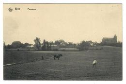 Biez  Grez-Doiceau   Panorama   (Laboureur - Attelage - Semer)   Edit Imprimerie Léon Michaux - Grez-Doiceau