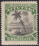 Aitutaki 1927 MH Sc 34 1/2p Landing Of Captain Cook Wmk - Aitutaki