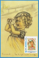 GERMAINE BOURET - TIMBRE Sur CARTE EDITION RECENTE - - Bouret, Germaine