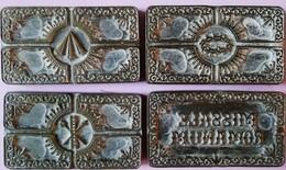 Lotto-series Of Four Printing Clichés MISSALE ROMANUM - Matrici Bronzo - Strumenti