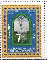 PAKISTAN, 2019, MNH, 70th ANNIVERSARY OF COMMONWEALTH ORGANIZATION, 1v - Organisaties