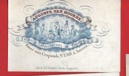Lot85C: 6 ViSiT Cards, Printer: All  RATiNCKX In ANVERS Antwerpen Porceleinkaarten Circa 1840 à1860 Hand Press Litho - Cartes De Visite
