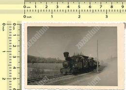 REAL PHOTO Steam Locomotive À Vapeur, Train Yugoslavia Vintage Original Photo Snapshot, Photograph - Treni