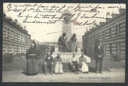 +++ CPA - MONS - La Statue De L'Hospice Clepin - Vieux Ménages - Carte Animée   // - Mons