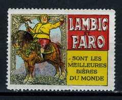 Belgique  Cinderella   Lambic Faro - Erinnophilie