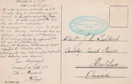 1912 Belgian Card Of Brussels To Canada Message In Esperanto Unfortunately Bill Hopkins Cachet - Esperanto