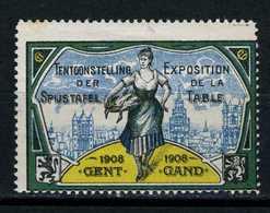 Belgique  Cinderella   Exposition De La Table Gent 1908 - Erinnophilie