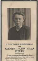DP. MARGARETA LIEVROUW ° AARSELE 1925- + 1941 - Religion & Esotérisme
