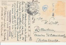 1946 Finland Card Of Helsinki To Nederland Message In Esperanto Stamps Removed - Esperanto