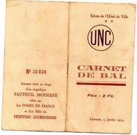 LIBOURNE Carnet De Bal. - Programas