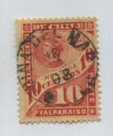 CHILE 1897 COLON COLUMBUS TAX STAMP WITH CANCEL VIÑA DEL MAR # 71725  111019 - Chili
