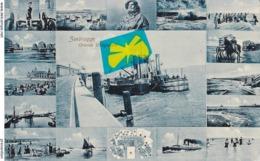 ZEEBRUGGE - Grande Drageuse - Carte Bleutée Multivues - Zeebrugge