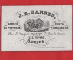 Lot85D: 6 ViSiT Cards, Printer: All  RATiNCKX In ANVERS Antwerpen Porceleinkaarten Circa 1840 à1860 Hand Press Litho - Cartes De Visite