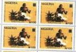 Nigeria  Philately:  `Mahatma Gandhi 150 Years Anniversary Issue/THE BLOCK OF 4 - Mahatma Gandhi