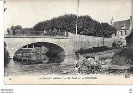 58 . Nièvre : Corbigny :  Le Pont De La République . - Corbigny