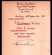 Dokument Mit Autograph Thomas Edison , 1882 , Menlo Park In New Jersey !!! - Autogramme & Autographen