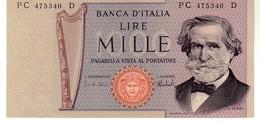 Italy P.101d  1000 Lire 1975   Unc - [ 2] 1946-… : Repubblica