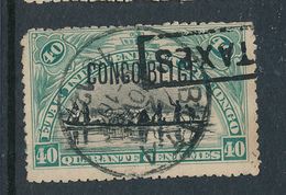BELGIAN CONGO 1909 ISSUE COB 44 PLATE POSITION 42 USED - Belgisch-Kongo