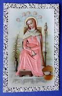 IMAGE PIEUSE , RELIGIEUSE. CANIVET... EN RELIEF....VÊTEMENTS EN SATIN....LA MÈRE ADMIRABLE - Devotion Images
