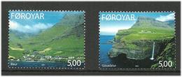 Faroe Islands  2003 Villages, Bøur And Gásadalur,  Mi  460-461, MNH(**) - Faeroër