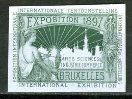 Belgique  Cinderella   Exposition  Bruxelles 1897     Non Dentelée - Erinnophilie