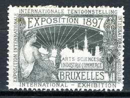 Belgique  Cinderella   Exposition  Bruxelles 1897 - Erinnophilie