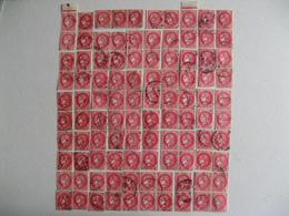 LOT DE 100 TIMBRES OBLITERES TYPE CERES A 2 F ROSE ROUGE   N°373 YT - 1945-47 Ceres De Mazelin