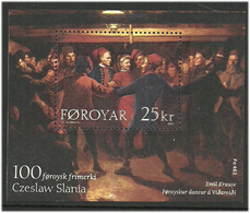 Faroe Islands  2003 100th Engraving Of  Faroese Stamp Of Czeslaw Slania, Polish Stamp Engraver Mi  Bloc 15, MNH(**) - Faeroër