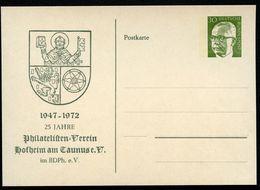 STADTWAPPEN HOFHEIM TAUNUS 1972  Bund PP46 C2/002 NGK 4,00 € - Briefe U. Dokumente