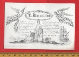 Lot85EF : MARMILLION Stokvis, Printer RATiNCKX In ANVERS Antwerpen Porceleinkaart Circa 1840 à 1860 Hand Press Litho - Cartes De Visite