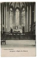 Avelgem - Avelghem - L'Eglise - Le Choeur - 1920 - Edit. J. Vercauter - 2 Scans - Avelgem