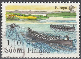 Finland 1981 Michel 881 O Cote (2013) 0.40 Euro Europa CEPT Aviron Cachet Rond - Finnland